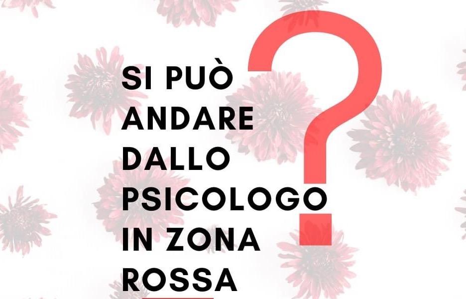 PSICOLOGO E ZONA ROSSA